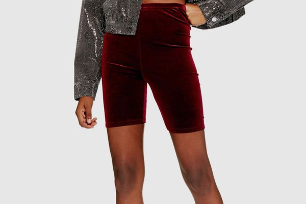 Topshop Velvet Cycling Shorts
