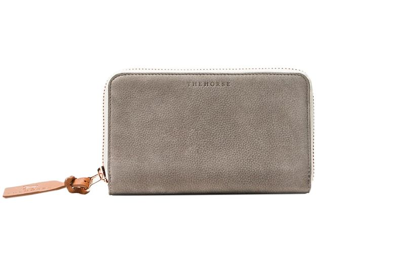 The Horse Block Wallet in Gray Nubuck