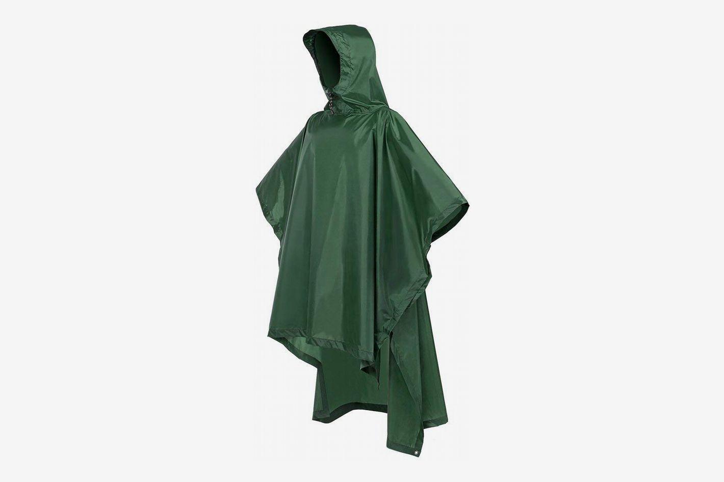Terra Hiker Rain Poncho, Waterproof Raincoat With Hood