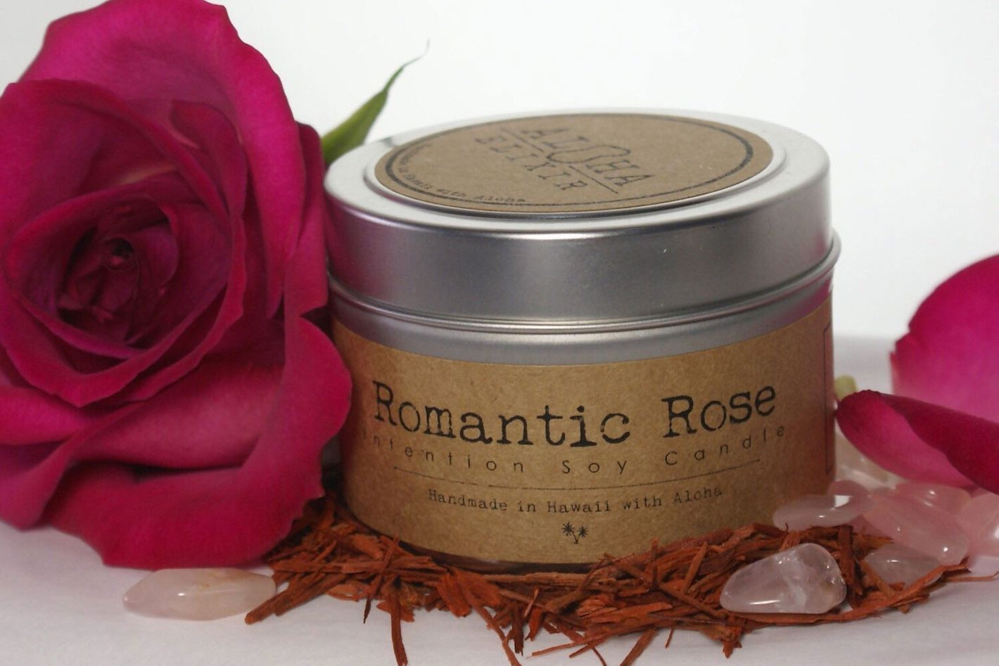 Aloha Elixir Romantic Rose Soy Intention Candle