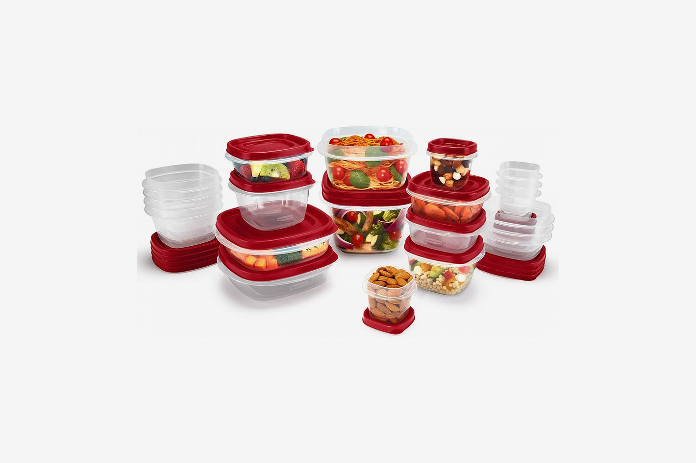 Rubbermaid 2063704 Easy Find Vented Lids Food-Storage Container, 42-Piece
