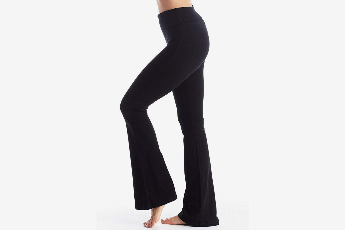 Viosi Fold Over Cotton Spandex Yoga Pants