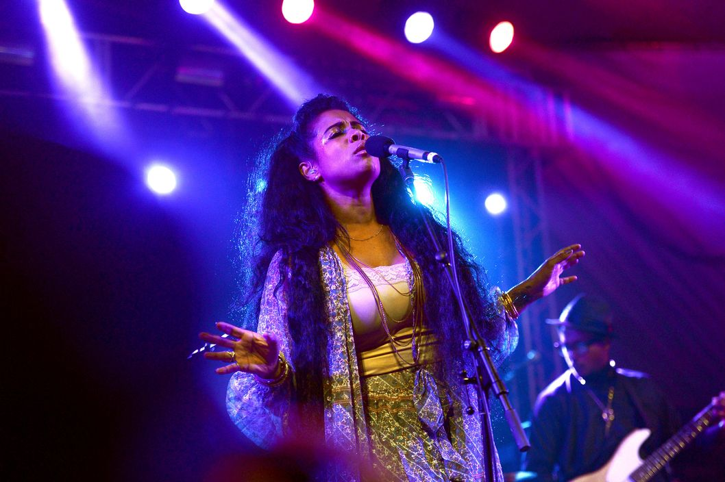 AUSTIN, TX - MARCH 12:  Singer Kelis performs during the NPR 2014 SXSW Music, Film + Interactive show at Stubbs on March 12, 2014 in Austin, Texas.  (Photo by Michael Loccisano/Getty Images for SXSW)