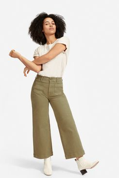Everlane Wide Leg Crop Patch Pocket Pant