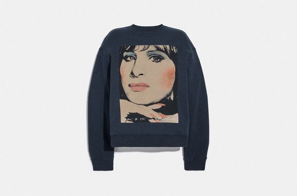 Coach x Richard Bernstein Sweatshirt with Barbra Streisand