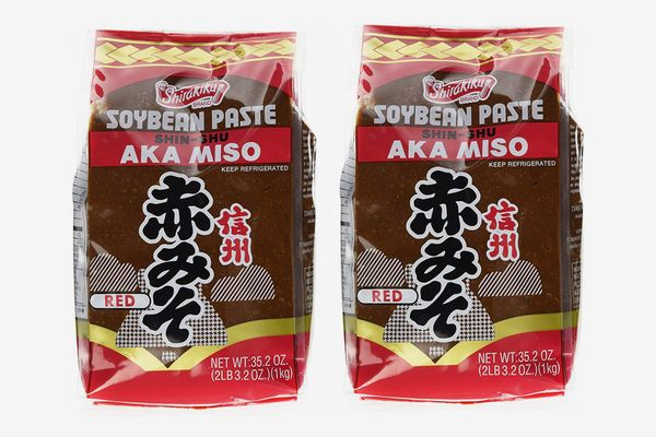 Shirakiku Miso Aka Soy Bean Paste, Pack of 2