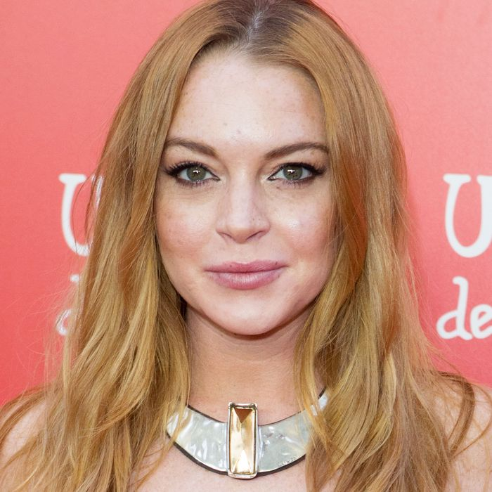 Fellow <i>Pokémon Go</i> enthusiast Lindsay Lohan.