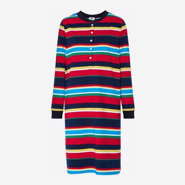 Striped Cotton-Jersey Nightdress - strategist best multi color striped night dress
