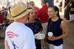 Sharice Davids, a Democrat running for Congress in Kansas, talk