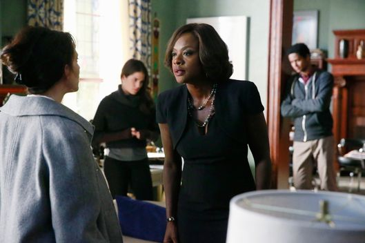 "HOW TO GET AWAY WITH MURDER - ""Best Christmas Ever"" - School is back in session after the holiday break and the entire university is talking about Annalise's missing husband. The Keating Five continue to be questioned by the police and we find out exactly how they've been dealing with the guilt of killing Sam. Meanwhile, Annalise tries to keep things business as usual by taking on a new client who is in the mob, but Hannah (Marcia Gay Harden) continues to pressure her for answers, on ""How to Get Away with Murder,"" THURSDAY FEBRUARY 5 (10:00-11:00 p.m., ET) on the ABC Television Network. (ABC/Mitch Haaseth)JACKIE GEARY, KARLA SOUZA, VIOLA DAVIS, ALFRED ENOCH"