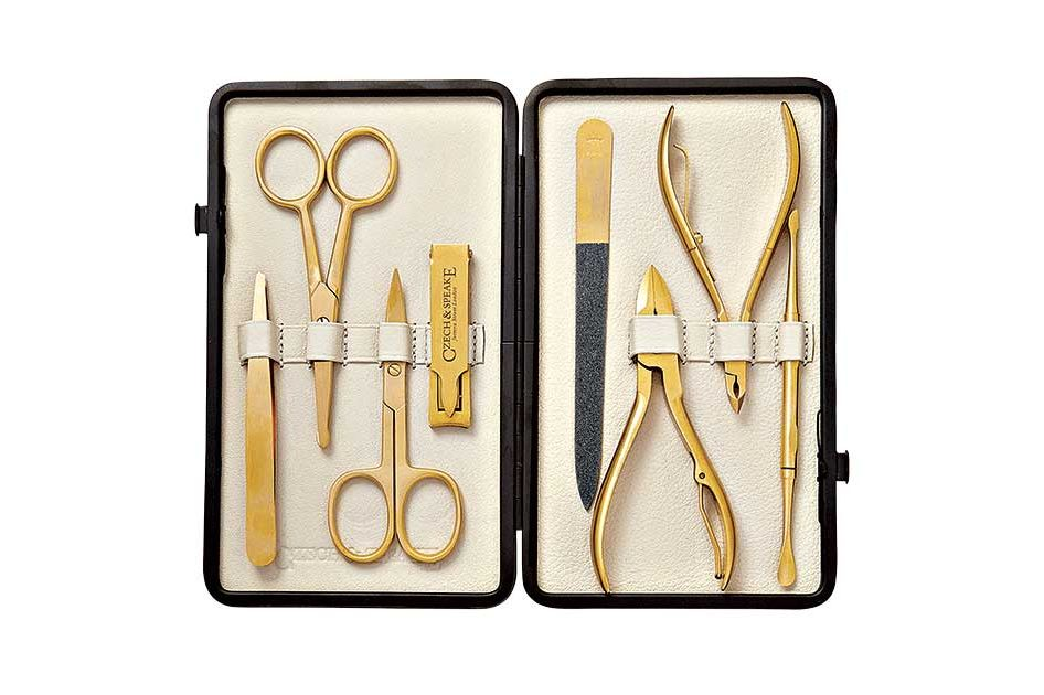 Czech and Speake Leather-Bound Manicure Set