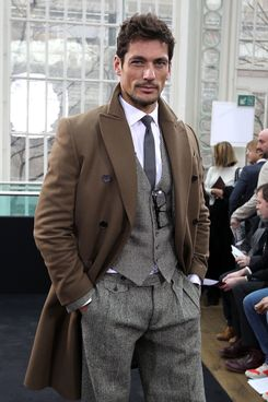 David Gandy is seen at the front row at the Topman Autumn/Winter 2012 show at London Fashion Week at The Royal Opera House on February 22, 2012 in London, England.