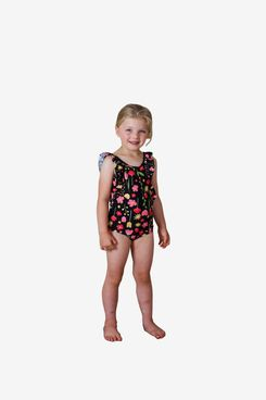 Tiny Tribe children's one-piece swimsuit with floral ruffles