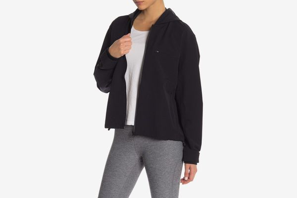 Outdoor Voices Stretch Crepe Hooded Jacket