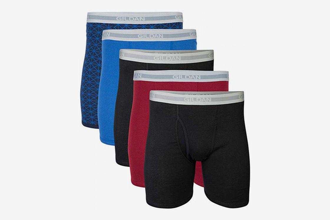 Mens Boxer Briefs Shorts Long Leg Sport Underwear Silky Underpants Plus Size