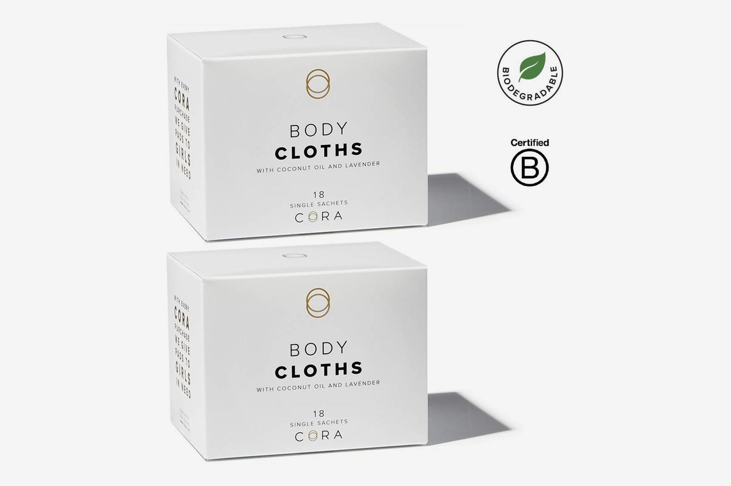 Cora Bamboo Feminine Wipes with Plant-Based Moisturizers and Essential Oils