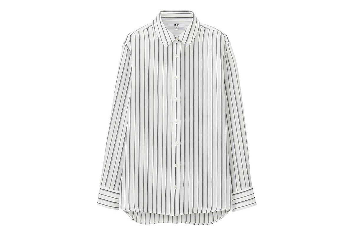 Uniqlo long-sleeved blouse