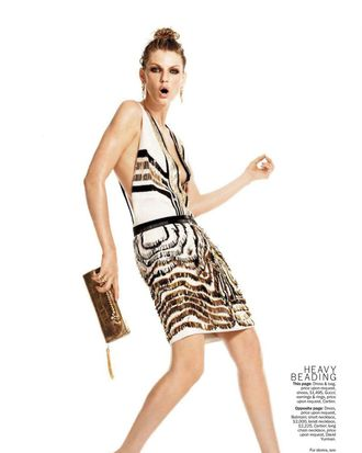 Angela Lindvall in February's <em>Marie Claire</em>.
