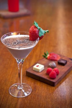 Ayza's strawberry-chocolate martini.