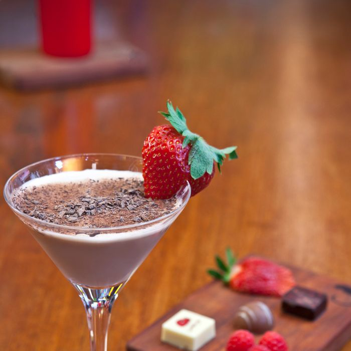 Ayza's strawberry-chocolate martini.
