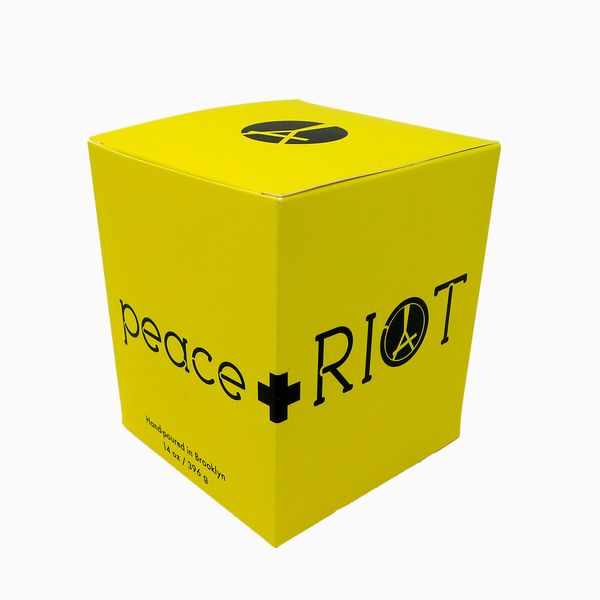 Peace and Riot Anniversary Candles