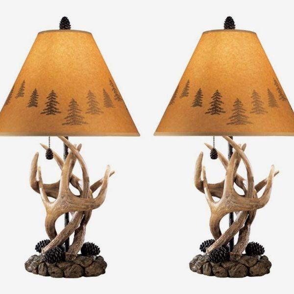 Ashley Furniture Signature Design - Derek Antler Table Lamps