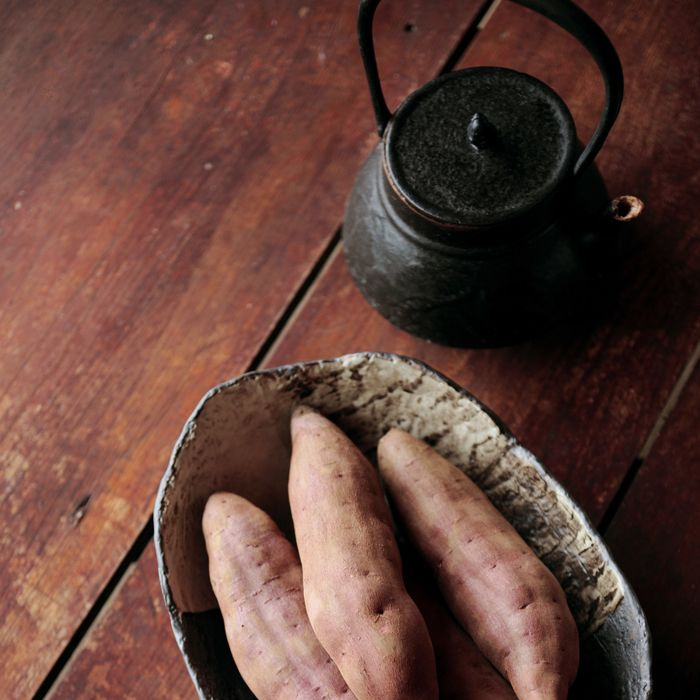 Look for Japanese sweet potatoes at the Greenmarket.