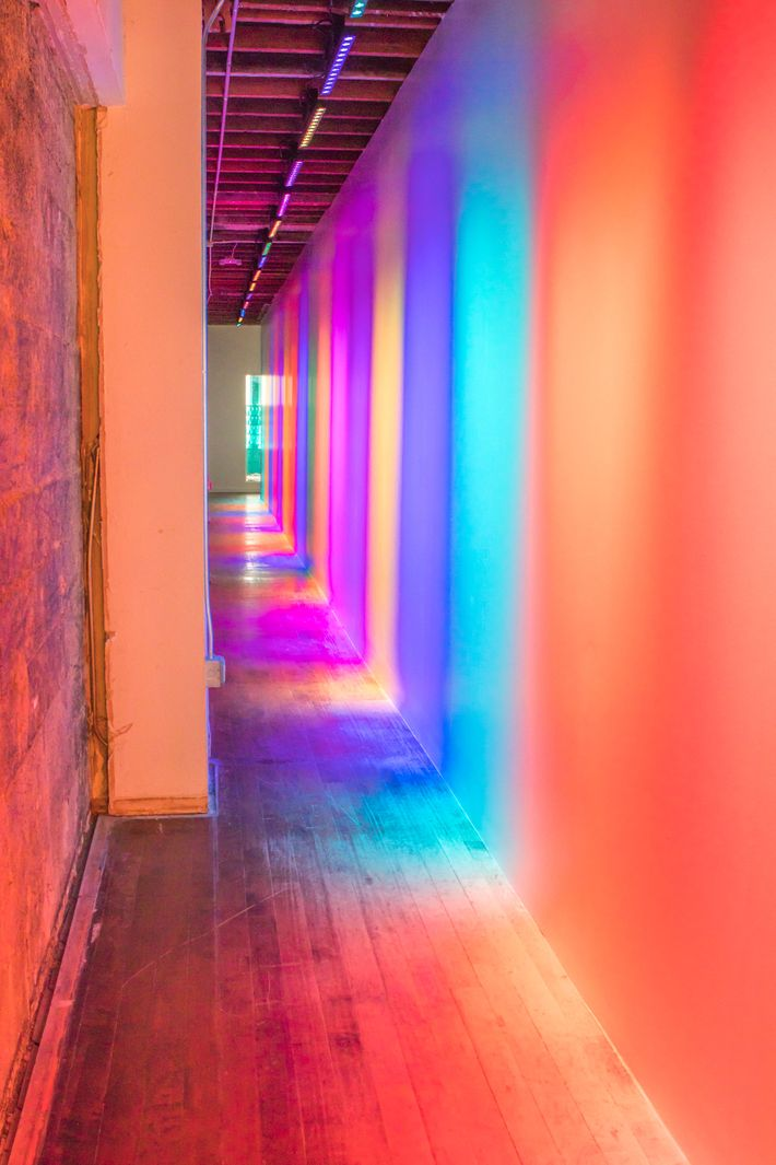 Colors lined every space in the museum, even hallways.