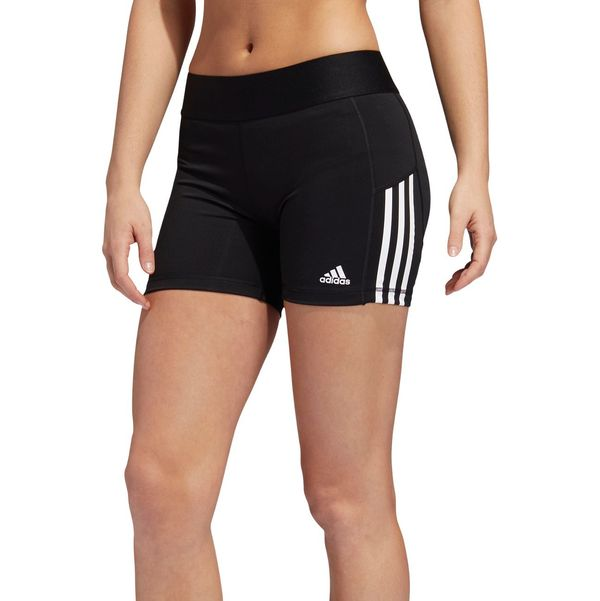 adidas Women's Alphaskin 3-Stripes 4'' Shorts