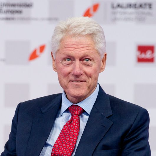 "Bill Clinton attends ""Laureate Summit On Youth And Jobs"" at Universidad Europea on May 21, 2013 in Madrid, Spain."