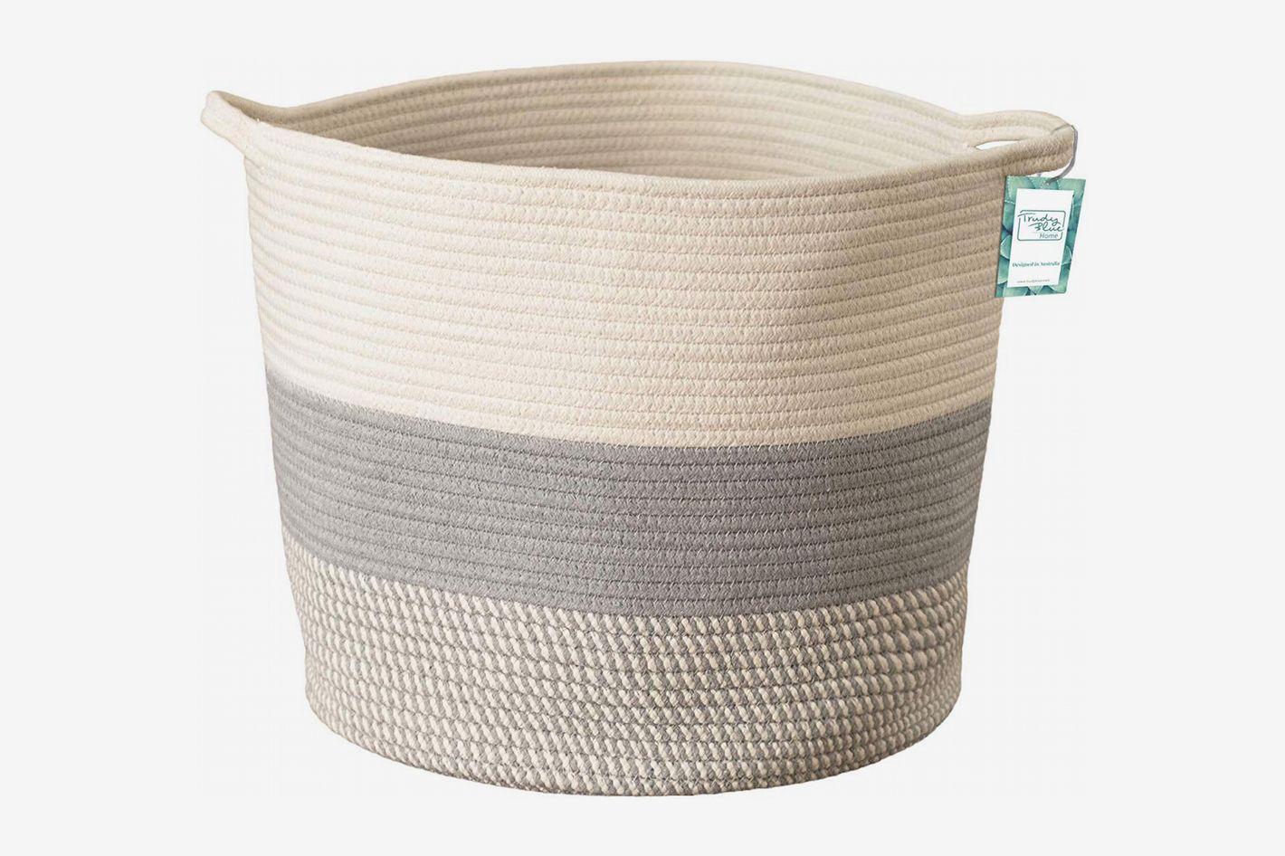 Extra Large Cotton Rope Woven Storage Basket