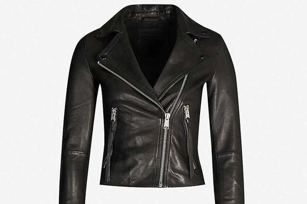 All Saints Dalby Leather Biker Jacket