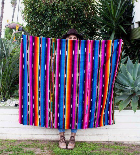 Cerceta Serape Blanket