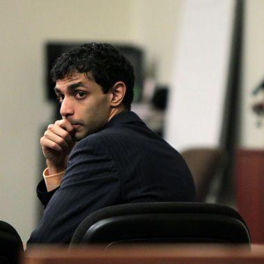 Dharun Ravi waits for the judge to explain the law to the jury before they begin their deliberations during his trial at the Middlesex County Courthouse in New Brunswick, N.J.