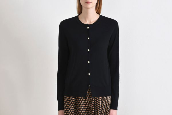 8 Black Long Sleeve Cardigan