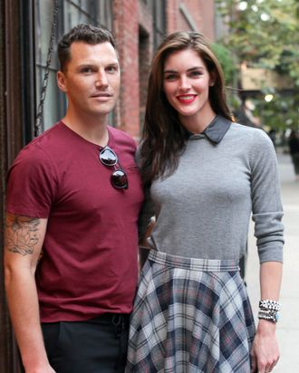 Sean Avery and Hilary Rhoda.
