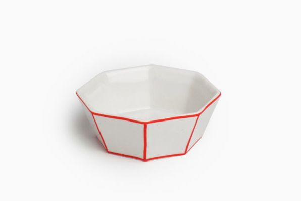 Ring Dish With Red Edge
