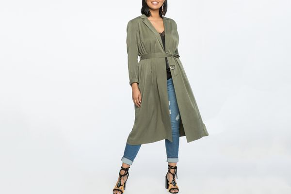 Eloquii Soft Trench With Belt