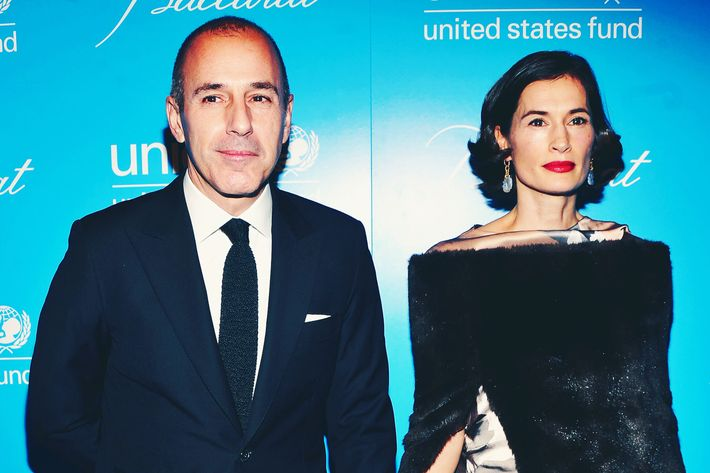 Matt Lauer and Annette Roque.