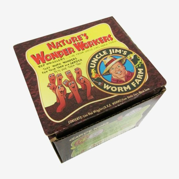 Uncle Jim's Worm Farm 250-Count Red Wiggler Live Composting Worms