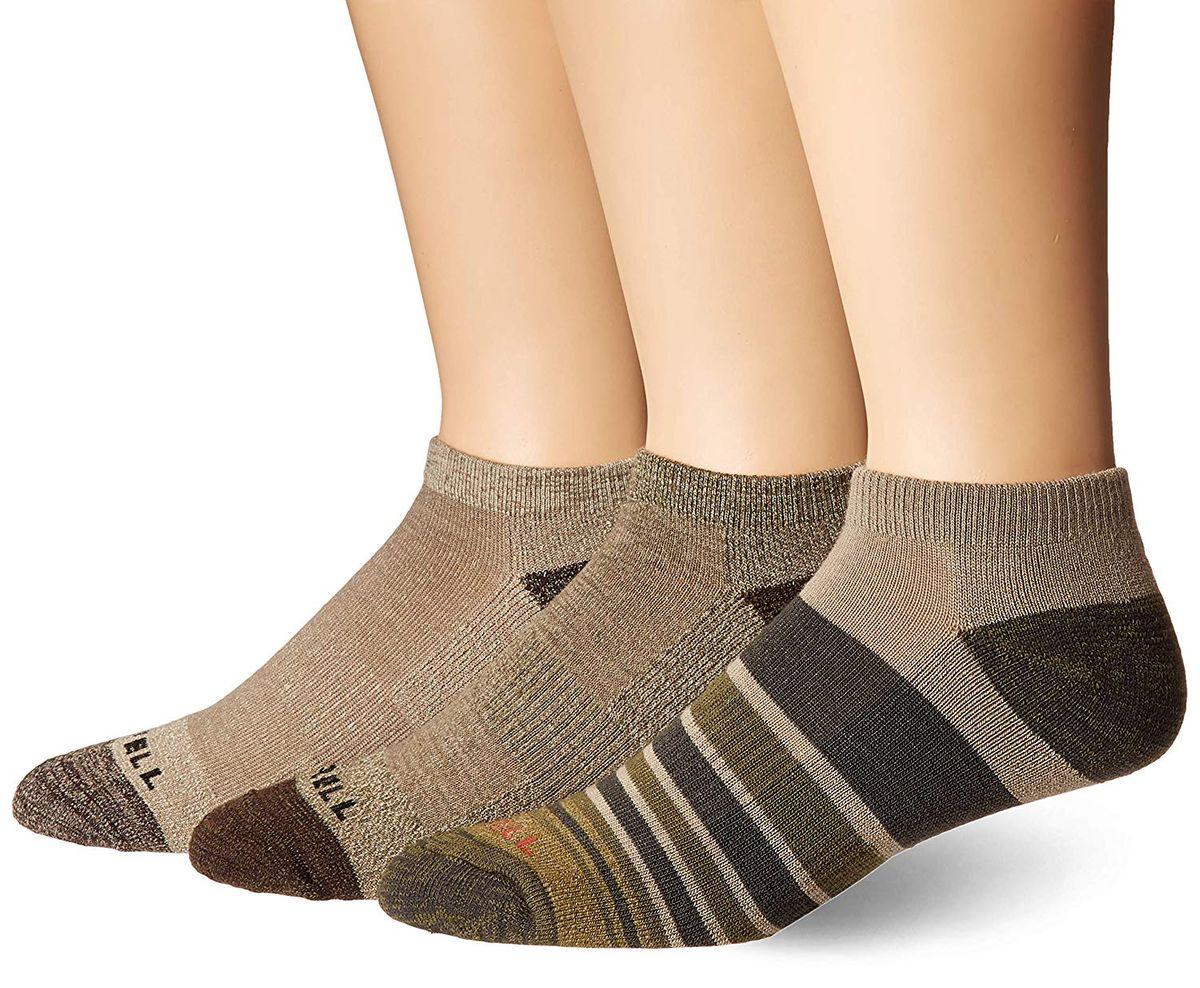 2 Pack Mens Arch Support Cushioned Summer Cotton Hiking Socks for Work Boots