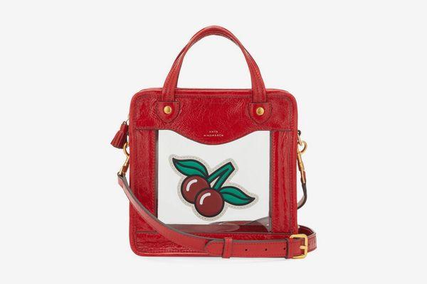 Anya Hindmarch Cherry Leather Crossbody Bag