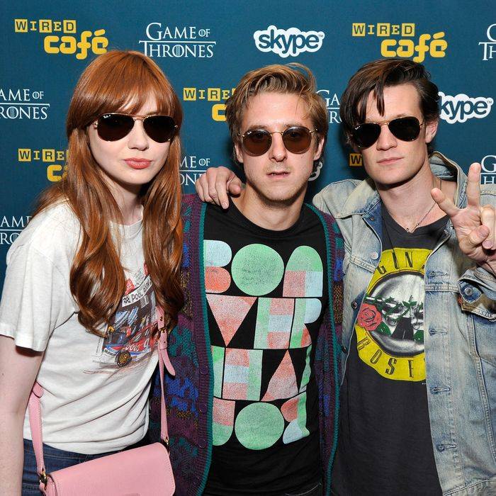 SAN DIEGO, CA - JULY 12: Actors Karen Gillan, Arthur Darvill and Matt Smith attend WIRED Cafe at Comic-Con held at Palm Terrace at the Omni Hotel on July 12, 2012 in San Diego, California. (Photo by Jerod Harris/Getty Images for WIRED)