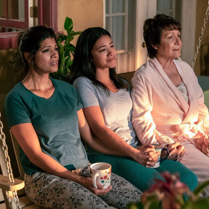 One last porch cry for the Villanueva women.