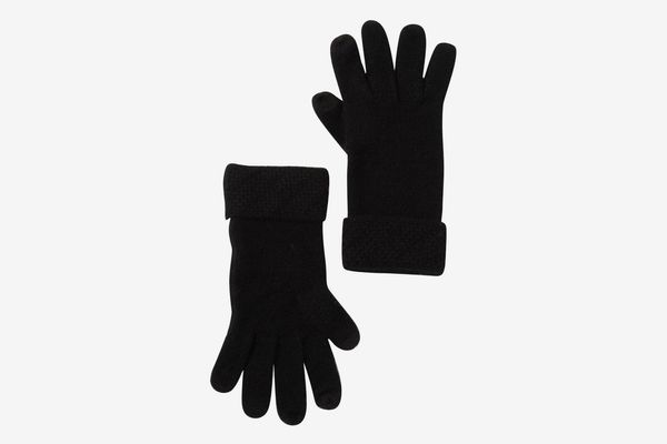 Sofia Cashmere Jersey Diagonal Stitch Gloves