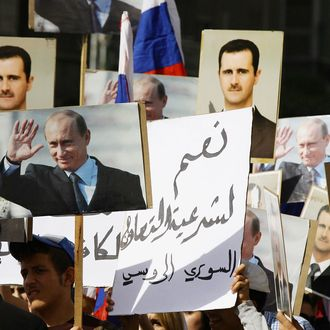 SYRIA-RUSSIA-CONFLICT-DAMASCUS-DEMONSTRATION