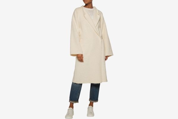 HELMUT LANG Belted alpaca and wool-blend coat