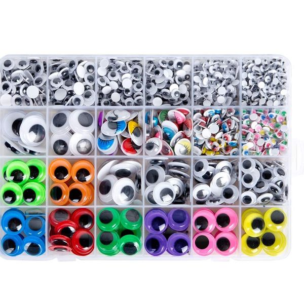Max Fun 4mm-15mm Googly Wiggle Eyes, 1700 Pieces