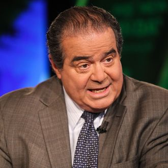 WASHINGTON, DC - JULY 27: U.S. Supreme Court Justice Antonin Scalia takes part in an interview with Chris Wallace on