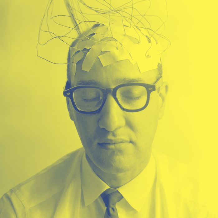 12 Jun 1966 --- 1960s Patient With Wires Taped To Bald Head Testing Brain Waves For Sanity.